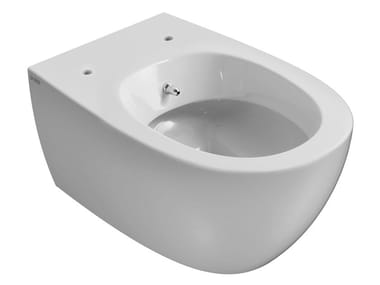 Wall-hung ceramic toilet with bidet with spray 4ALL | Wall-hung toilet with bidet