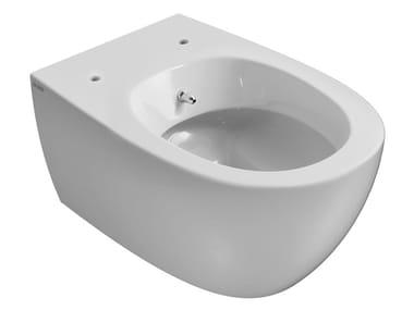 Wc bidet sospeso in ceramica con doccetta 4ALL | Wc bidet sospeso