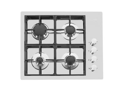 Gas flush-mount stainless steel hob 4F S4000 FT INOX