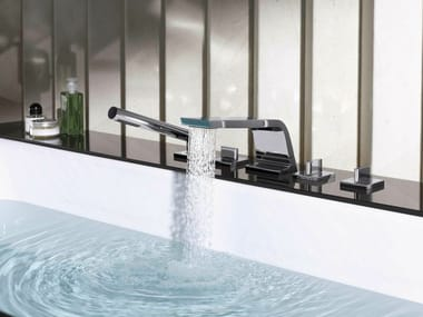 Contemporary style 5 hole countertop washbasin tap CL.1 | 5 hole washbasin tap