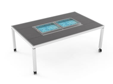 Dining table with ice bucket Dining table with double ice well
