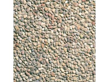 Pavimenti per esterni 50 x 50 - Ghiaia  di  fiume  grigia