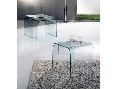 Tavolino alto rettangolare in vetro 5000 | Tavolino