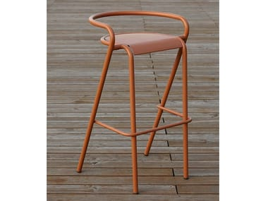 High metal stool with back 5008-B | Stool