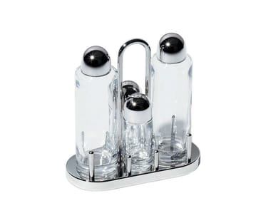 Stainless steel salt and pepper shaker / oil vinegar set 5070 | Oil vinegar set