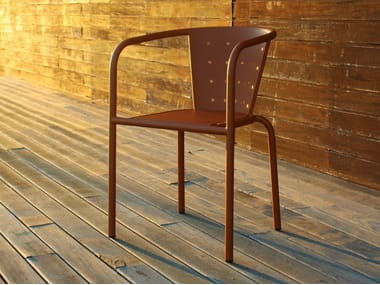 Metal restaurant chair with armrests 508 | Chair with armrests