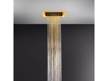 Soffione doccia a soffitto con cromoterapia 57301+57002