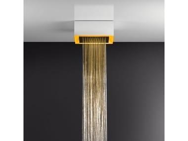 Soffione doccia a soffitto/controsoffitto con cromoterapia 57303+57002