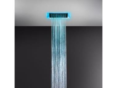 Soffione doccia a controsoffitto con cromoterapia 57305+57004