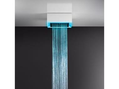 Soffione doccia a soffitto/controsoffitto con cromoterapia 57307+57004