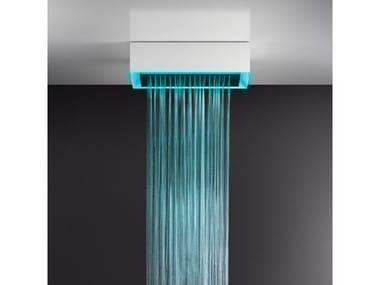 Soffione doccia a soffitto/controsoffitto con cromoterapia 57403+57006