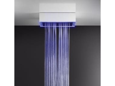 Soffione doccia a soffitto/controsoffitto con cromoterapia 57411+57010