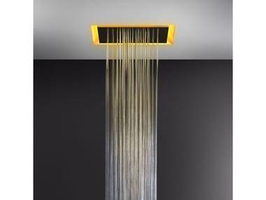 Soffione doccia a controsoffitto con cromoterapia 57501+57012