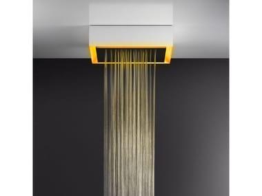 Soffione doccia a soffitto/controsoffitto con cromoterapia 57503+57012