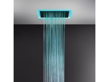 Soffione doccia a controsoffitto con cromoterapia 57509+57016
