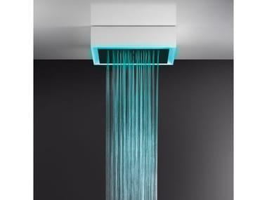 Soffione doccia a soffitto/controsoffitto con cromoterapia 57511+57016
