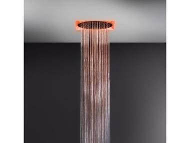 Soffione doccia a controsoffitto con cromoterapia 57601+57018