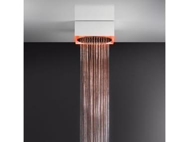 Soffione doccia a soffitto/controsoffitto con cromoterapia 57603+57018