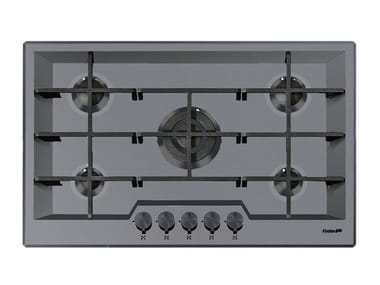 Gas flush-mount stainless steel hob 5F KE FT PVD GUNMETAL