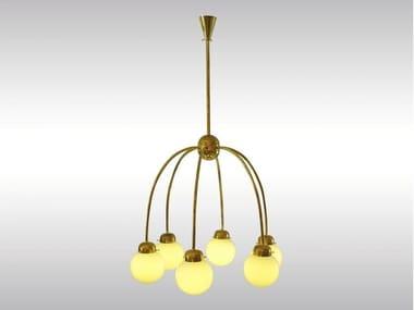 Brass pendant lamp 6-ARM CHANDELIER