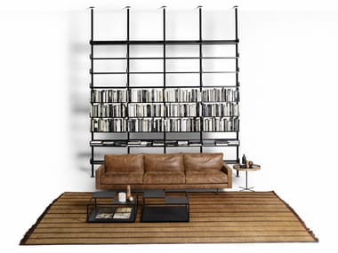 Sectional extruded aluminum bookcase 606 UNIVERSAL SHELVING SYSTEM
