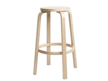 High wooden stool 64 | Birch stool