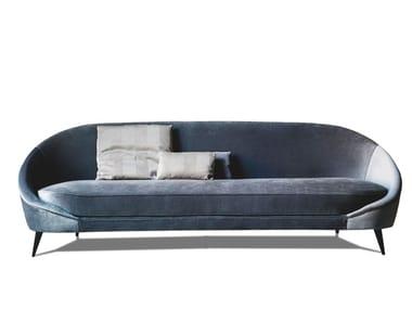 3 seater fabric or leather sofa 650 NIDO | Sofa
