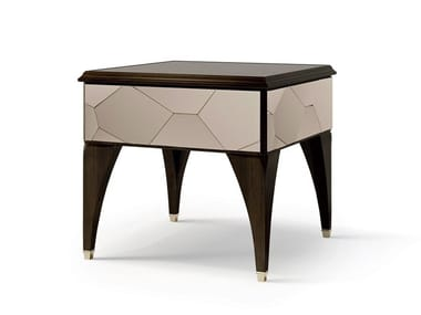 Wooden coffee table/bedside table and mirrored glass insert 6638 | Coffee table with storage space