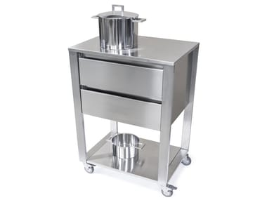 Stainless steel kitchen unit with drawers 667702 | Kitchen unit