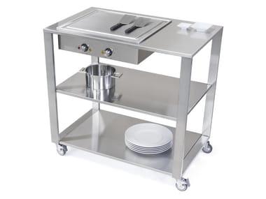 Kitchen cart with teppanyaki griddle 669110 | Kitchen unit