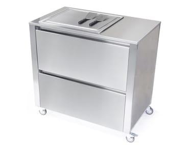 Kitchen cart with teppanyaki griddle 669212 | Kitchen unit