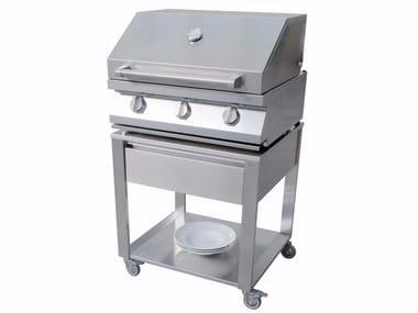 Barbecue à gaz en acier inoxydable CUN 679070 | Barbecue