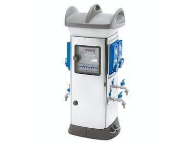 Terminale / colonnina di distribuzione elettrica in tecnopolimero 68 Q-MC