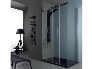Box doccia angolare con porta scorrevole 6PSC15 + 6KLF | Box doccia angolare