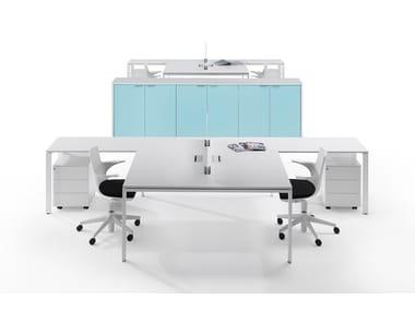 L-shaped sectional workstation desk 6X3   Multiple office workstation