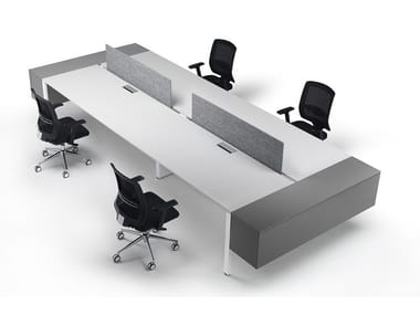 Sectional workstation desk with shelves 6X3   Multiple office workstation