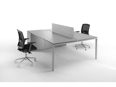 Sectional workstation desk with drawers 6X3   Office workstation for open space