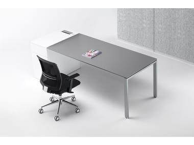 Rectangular melamine-faced chipboard workstation desk with drawers 6X3 | Workstation desk