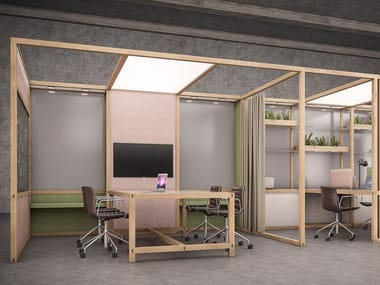 Multiple office workstation for open space 6x6 - OFFICE
