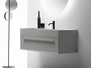 Wall-mounted vanity unit with drawers 7.0 | Vanity unit