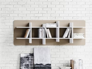 Open wall-mounted floating bookcase 70'S SEVENTIES | Floating bookcase