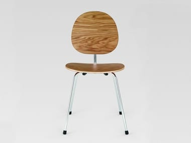 Stainless steel and wood restaurant chair 704   Chair