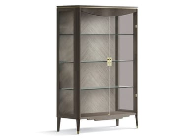 Wood and glass display cabinet 7301 | Display cabinet