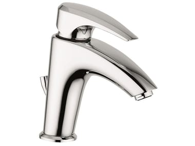 Countertop 1 hole brass washbasin mixer with automatic pop-up waste 75003 | Washbasin mixer with automatic pop-up waste