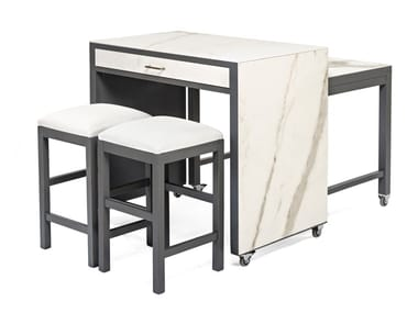 Wooden table / food trolley 7651 | Table with casters