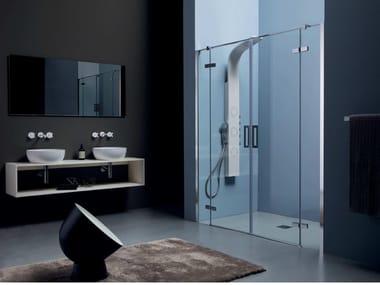 Box doccia a nicchia in cristallo con porta a battente 8 MILL INFINITY | Box doccia con porta a battente