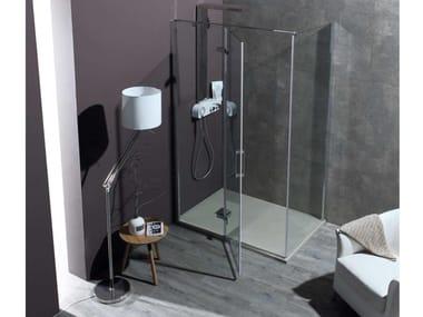 Box doccia angolare con porta a battente 8MILL INFINITY + B8MILL | Box doccia angolare