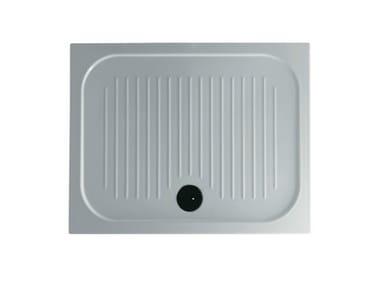 Piatto doccia antiscivolo rettangolare H6 - FLAT - 80 x 100