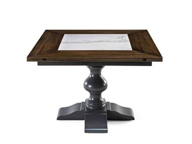 Square wooden table 8488   Square table