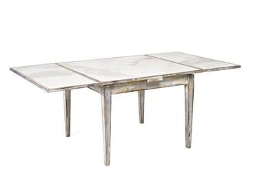 Extending rectangular porcelain stoneware table 8550   Table